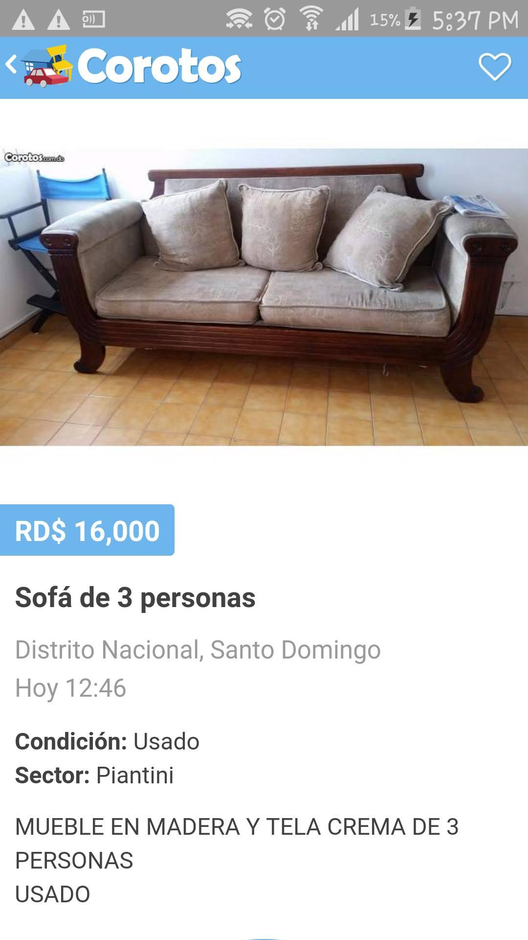 Plaza Libre Vendo Por Mudanza # Muebles Corotos