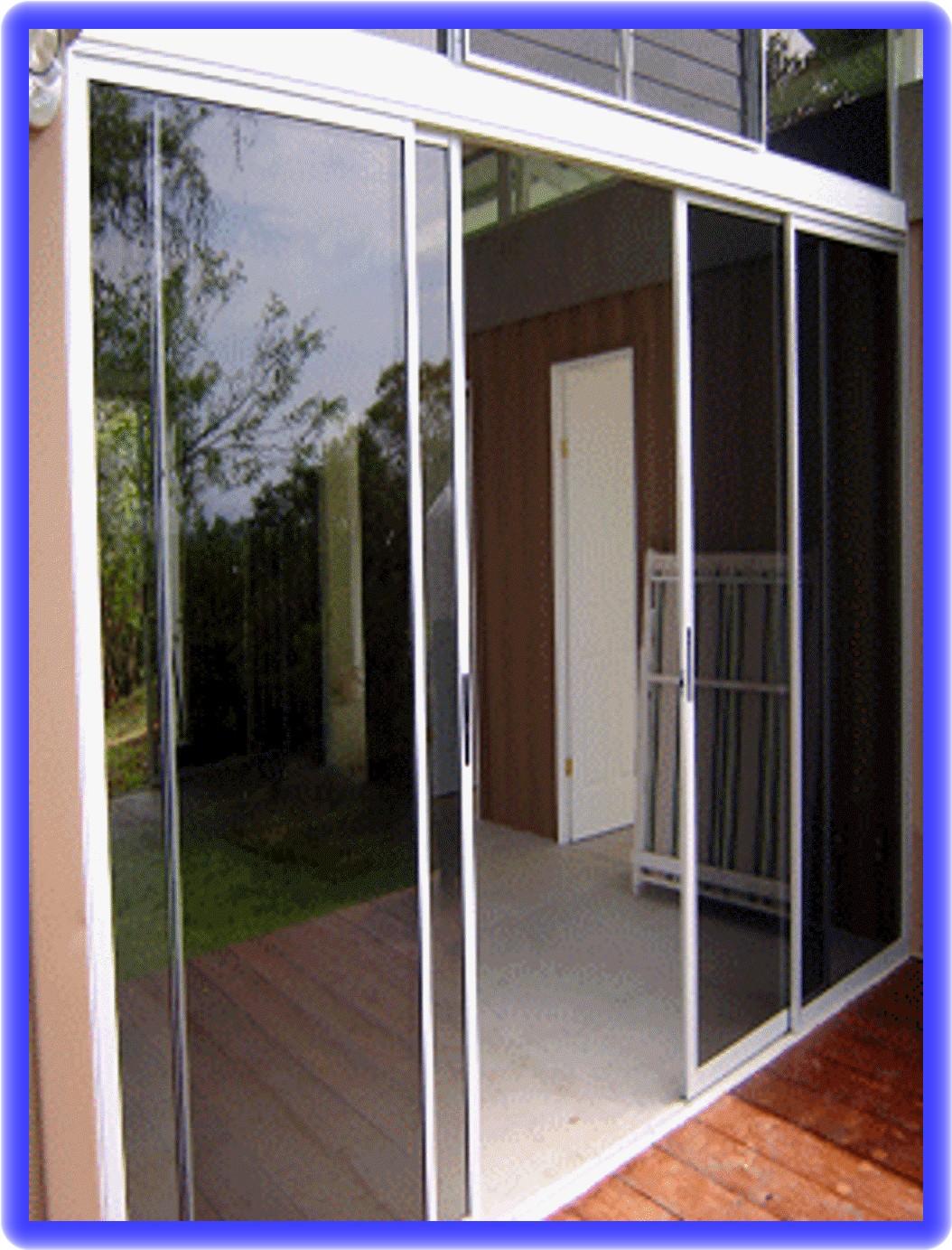Plaza libre set 3 puertas corredizas de balcon en for Puertas jardin aluminio